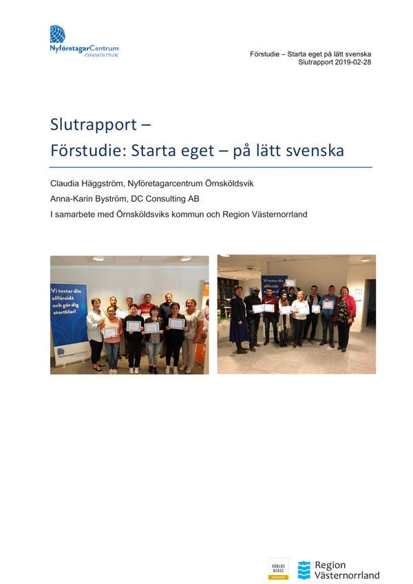 Slutrapport Starta Eget